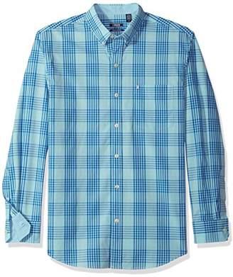 Izod Men's Premium Essential Check Long Sleeve Shirt (Regular and Slim Fit)