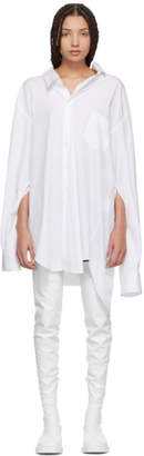 Junya Watanabe White Oversized Slit Sleeve Shirt Dress