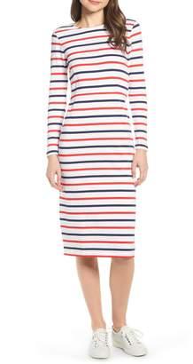 J.Crew Stripe Long Sleeve Cotton Dress