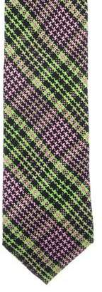 Prada Plaid Silk Tie