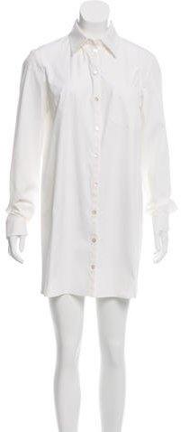 MICHAEL Michael KorsMichael Kors White Long Sleeve Shirtdress