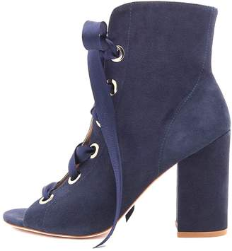 Ulla Johnson Ramona Heel in Navy Suede
