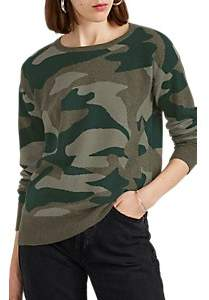 Barneys New York WOMEN'S CAMOUFLAGE CASHMERE SWEATER - GREEN SIZE M
