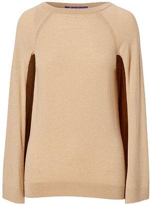 Ralph Lauren Cashmere Sweater Cape $890 thestylecure.com