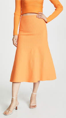 Tibi Ribbed Skirt