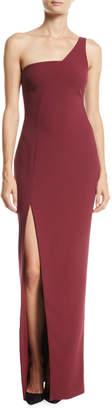 LIKELY Briar 1-Shoulder High-Slit Column Gown