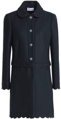 RED Valentino Scalloped Wool-Blend Twill Coat