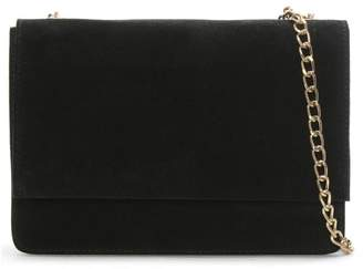 Daniel Milla Black Suede Chain Shoulder Bag