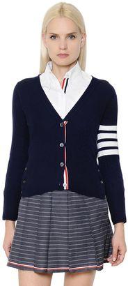 Intarsia Stripes Cashmere Cardigan $1,690 thestylecure.com
