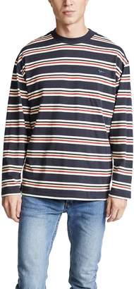 MAISON KITSUNÉ Long Sleeve Striped T-Shirt