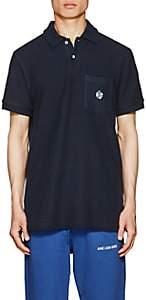 Leon Aime Dore Men's Cotton Terry Polo Shirt - Navy