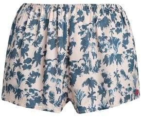 Love Stories Printed Crepe Pajama Shorts
