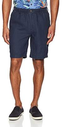 """28 Palms Men's Relaxed-Fit 9"""" Inseam Linen Short with Drawstring"""