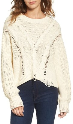 Women's Wildfox Deconstructed Sweater $174 thestylecure.com