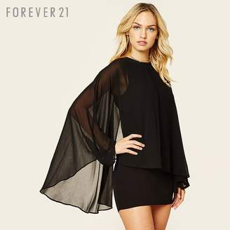 Forever 21 (フォーエバー 21) - Forever 21 ケープスリーブワンピース