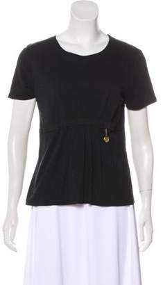 Louis Vuitton Bow-Accented Scoop Neck T-Shirt