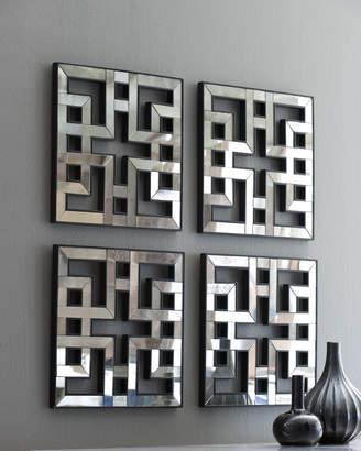 Akari Four Mirrored Fretwork Panels
