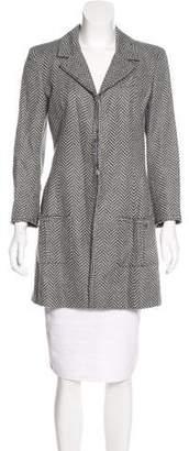 Chanel Linen Herringbone Coat