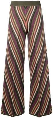 Twin-Set zig-zag stripe trousers
