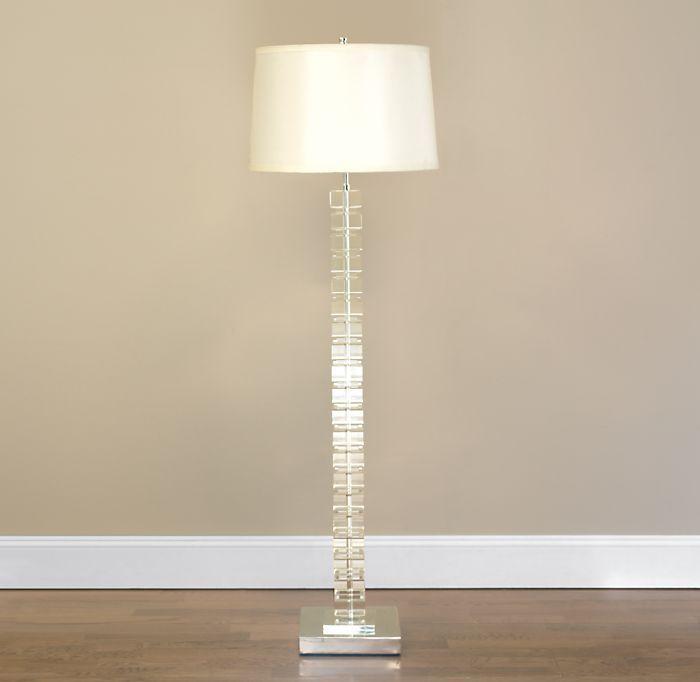 Stacked Crystal Block Floor Lamp