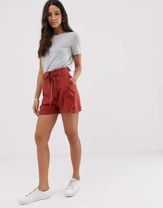 2850ce4b8a Asos Design DESIGN linen tie waist shorts