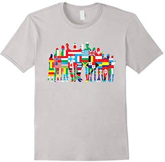 Human Family T-Shirt Countries One World Unity Peace Hippie