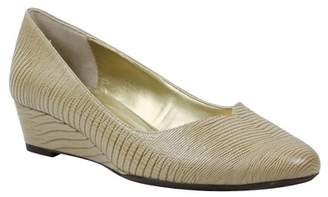 J. Renee J.Renee Choncey Leather Slip-On Wedge - Wide Width Available