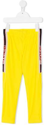 Gucci Kids branded side stripe leggings