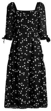 Rebecca Taylor Women's Alessandra Floral Dress - Black Combo - Size 8