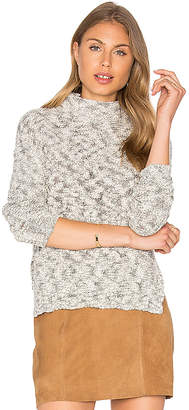 Michael Stars Cabled Turtleneck Pullover in Gray $168 thestylecure.com