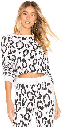 Wildfox Couture Blush Leopard Beach House Sweatshirt