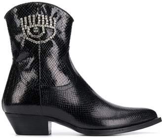 Chiara Ferragni cowgirl boots