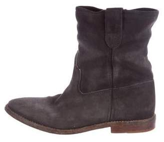 Isabel Marant Suede Round-Toe Ankle Boots