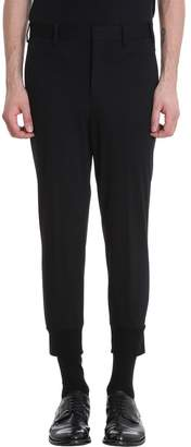 Neil Barrett Black Cotton Pants. Closure With Buttons And Zip
