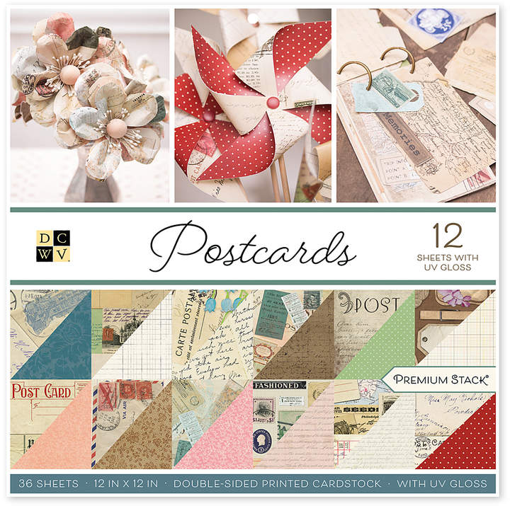 Stacks - DCWV - 12x12 - Postcards - UV Gloss - Double-Sided - 36 Sheets