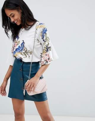 AX Paris floral 3/4 sleeve top