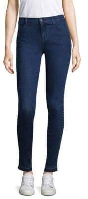 Braided Trim Skinny Jeans