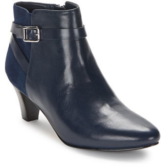 Cole Haan  Cole Haan Sylvan Leather and Suede Ankle Boots