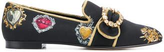 Dolce & Gabbana heart pattern loafers