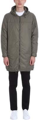 Mauro Grifoni Long Green Nylon Padded Jacket