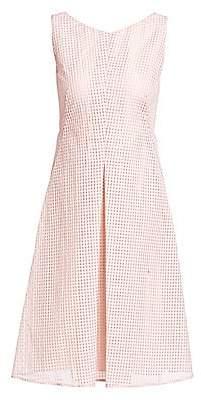 Akris Women's Sleeveless Square Ajouré A-Line Dress