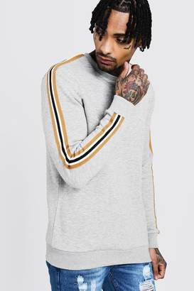 boohoo Side Tape Detail Sweatshirt