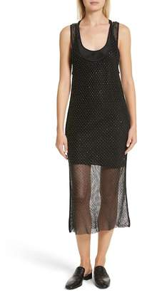Rag & Bone Terry Beaded Mesh Tank Dress
