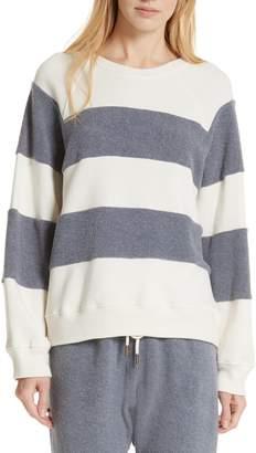 The Great Fleece Stripe Slouch Sweatshirt