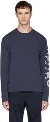 Kenzo Navy Long Sleeve Logo T-Shirt