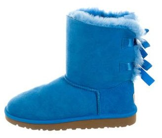 UGG Australia Suede Bow Boots $95 thestylecure.com