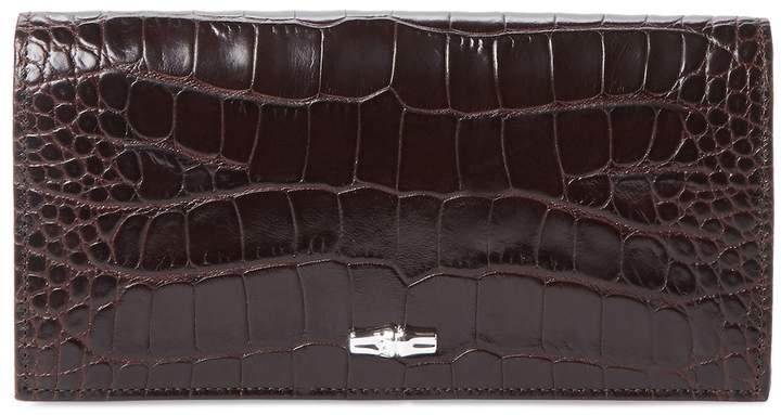 Longchamp Women's Roseau Leather Continental Wallet