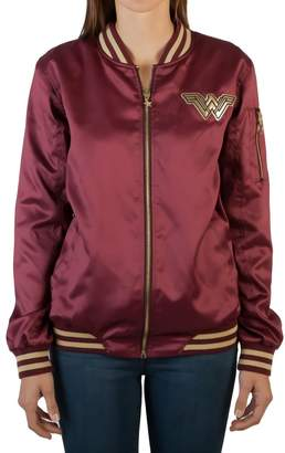 Bioworld Officially Licensed Ladies DC Coics Wonder Woan Logo Bober Jacket