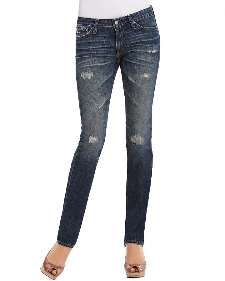 AG Adriano Goldschmied Premiere Skinny Straight-Leg Jeans in 12 Years Mend Wash