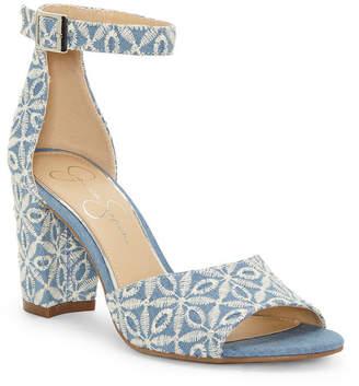 Jessica Simpson Sherron Two-Piece Block-Heel Sandals Women Shoes